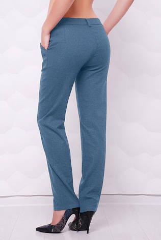 """Легкі лляні жіночі брюки з кишенями """"Ninel"""" джинс світлий, фото 2"""