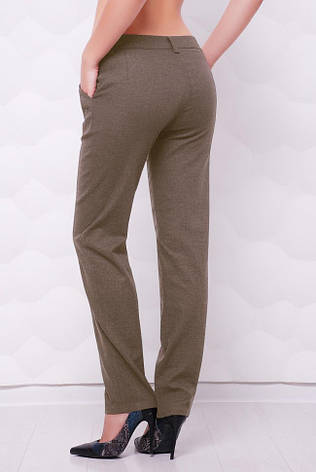 """Летние легкие брюки с карманами """"Ninel"""" серо-коричневые, фото 2"""