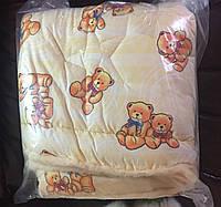 Одеяло детское с подушкой комбинированное с овчинной Нейтральный цвет