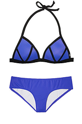 Купальник Пуш-Ап Victoria's Secret PINK Push-Up Triangle Top р. М, Фиолетово-синий