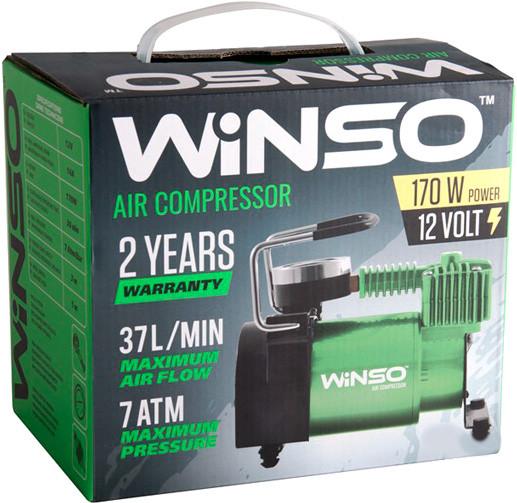 Автокомпрессор 7Атм, 170Вт, 37л/мин для накачивания шин, от прикуривателя, WINSO 123000 (Польша)