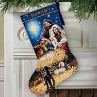 Набор для вышивания крестом Святая ночь/Holy Night Stocking DIMENSIONS 70-08838
