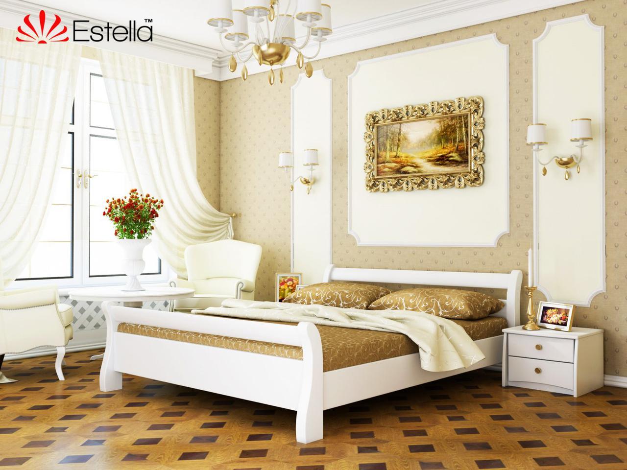 Дерев'яне ліжко Діана (білий)