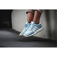 Женские кроссовки Adidas Iniki Runner Boost Icy Blue (Реплика)
