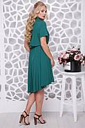 Женское ботальное платье отрезное по талии Алина / цвет бутылка / размер 48-58, фото 2