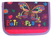 Пенал твердий одне відділення з двома клапанами Smile для дівчинки, дизайни на вибір Метелик