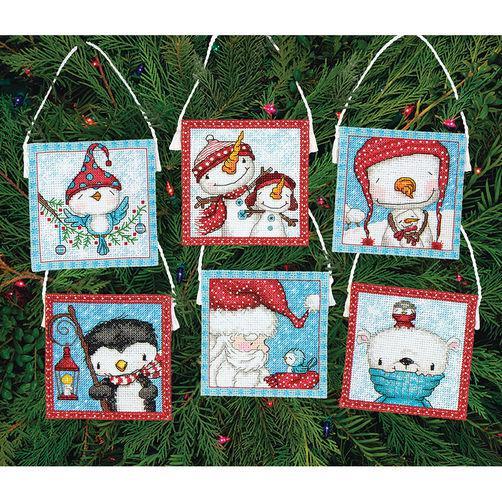 Набор для вышивания крестом Украшения Морозные друзья/Frosty Friends Ornaments DIMENSIONS 70-08940