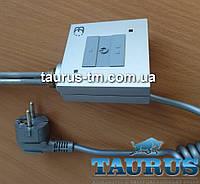 Квадратный электроТЭН TERMA KTX1 silver с управлением: 2 режима нагрева. Матовый, Польша. Съёмный регулятор