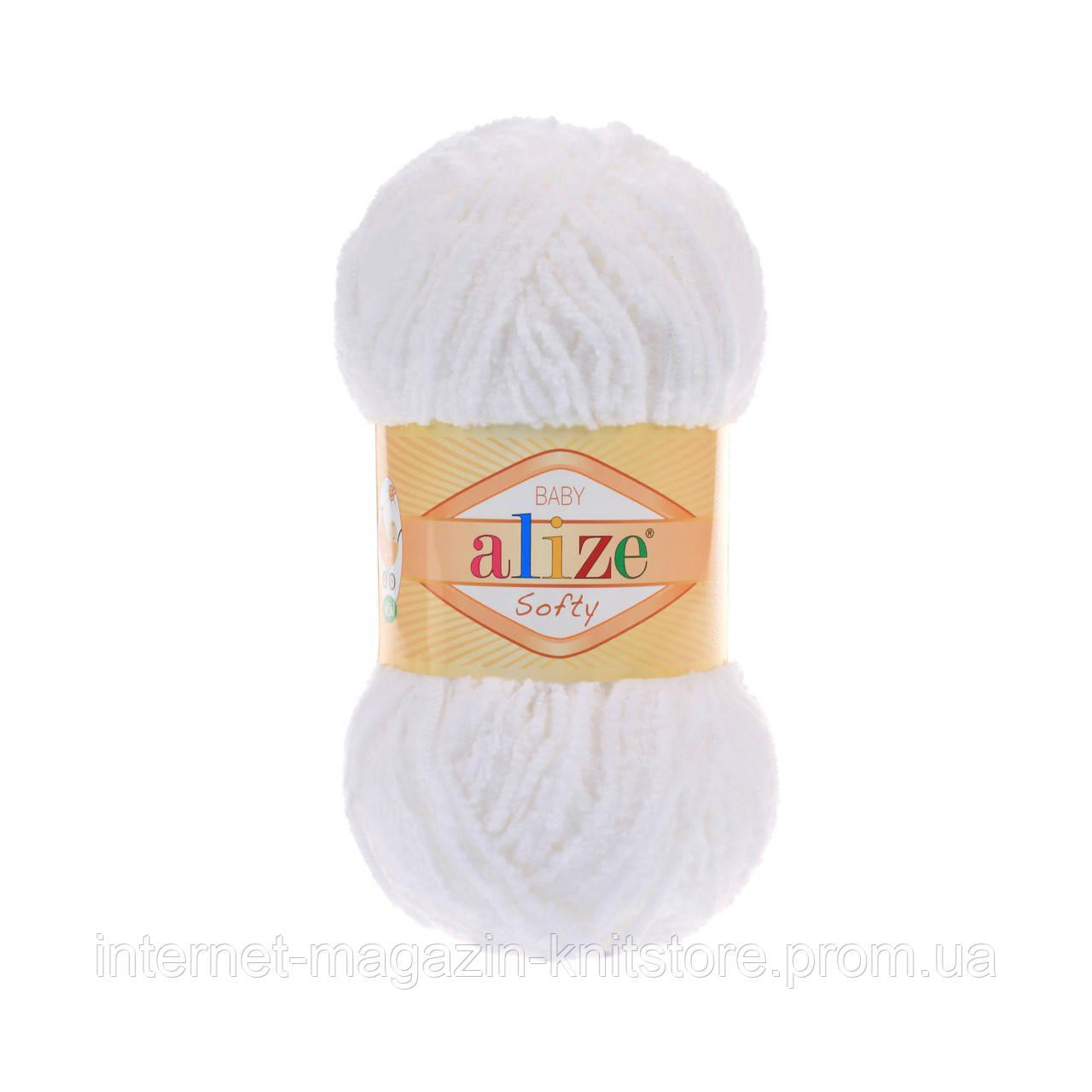 Пряжа Alize Softy Белый