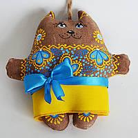 Кофейная кошка в барвинке. Украинский сувенир.
