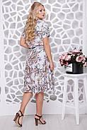 Женское ботальное платье отрезное по талии Алина / цвет серый / размер 56,58, фото 2