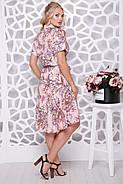 Женское ботальное платье отрезное по талии Алина / цвет розовый / размер 48,50, фото 2