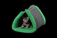 """Лежак (лежанка) для домашних животных Мур-Мяу """"Боня"""" Серо-зеленый"""