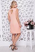 Женское платье трапецевидного силуэта Синди / цвет персик / размер 50-56, фото 2