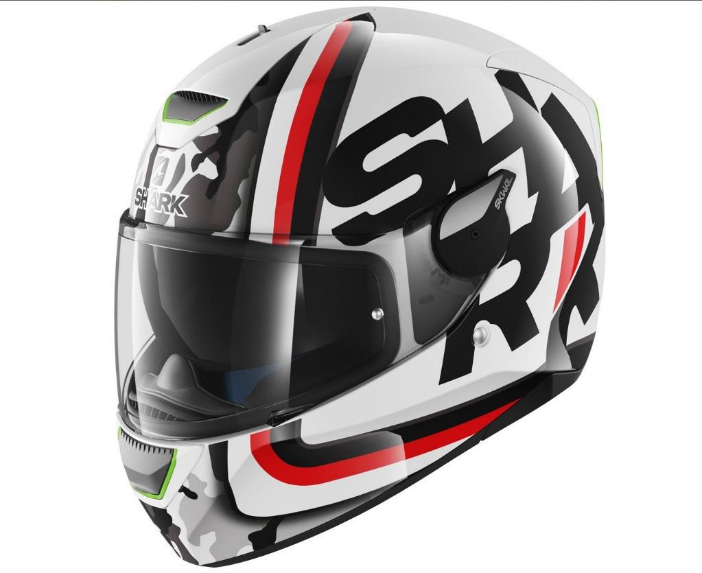 Шлем Shark Skwal Cargo р.M, черно-бело-красный