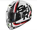 Шлем Shark Skwal Cargo р.L, черно-бело-красный