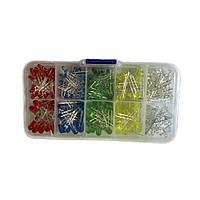 300x LED светодиод 3мм / 5мм 5 цветов (300 штук в наборе)