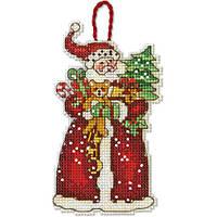 Набор для вышивания крестом Украшение Санта/Santa Ornament DIMENSIONS 70-08895