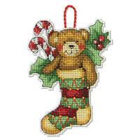 Набор для вышивания крестом Украшение Медведь/Bear Ornament DIMENSIONS 70-08894