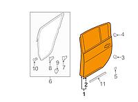 Дверь голая задняя правая Nissan Leaf ZE0 (10-13) HBA0M-3NAMA