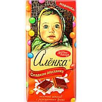Шоколад Аленка с разноцветными драже Красный Октябрь 100 гр.