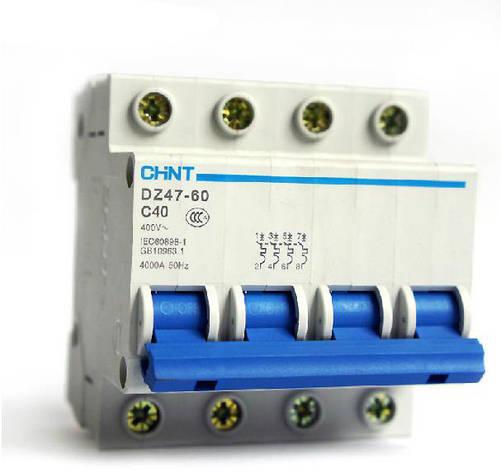Автоматический выключатель Chint DZ47-60 4,5kA, х-ка С, 1А, 4P, 187988, фото 2
