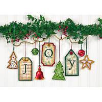 Набор для вышивания крестом Украшения Радость/Joy Tag Ornaments DIMENSIONS 70-08849