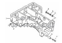 Передний кронштейн в сборе (дополнительно) на YTO-X804