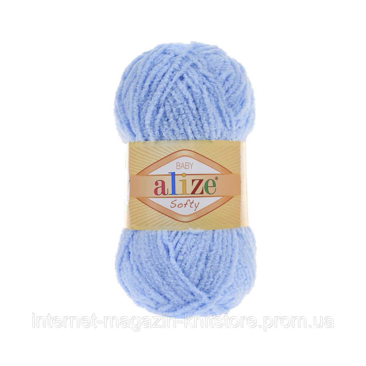 Пряжа Alize Softy Голубой