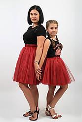 Комплект фатиновых юбок ярко красного цвета с подкладом.Пошив в любом цвете и размере.