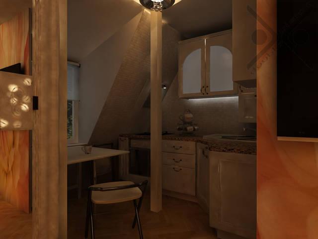 Классическая потолочная люстра с хрустальными элементами добавляет уютного и торжественного настроения одновременно.