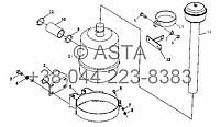 Воздушный фильтр в сборе (X904, с кабиной водителя) на YTO-X804, фото 1