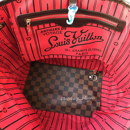 Сумка Louis Vuitton Neverfull Large коричневая в клетку, фото 2
