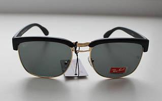 Фигурные черные женские солнцезащитные очки Ray Ban