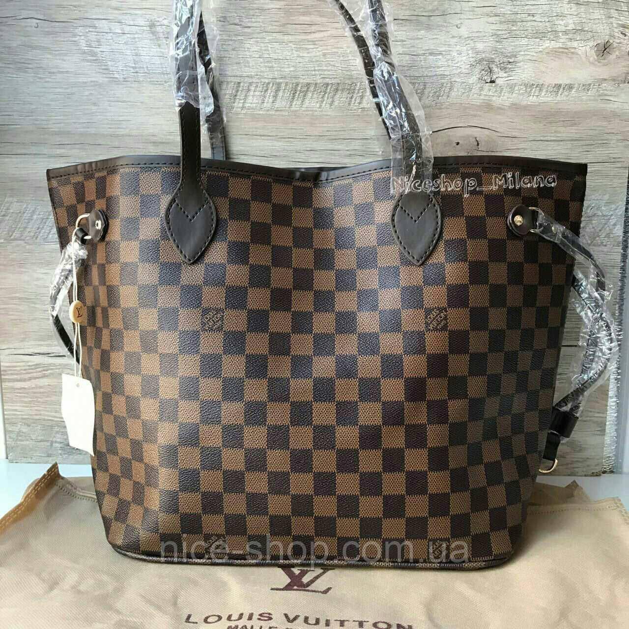 97aa68e00216 Сумка Louis Vuitton Neverfull Large коричневая в клетку: продажа ...