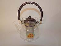 Чайник- заварник с пластмассовой ручкой 1100мл