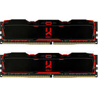 Модуль памяти для компьютера DDR4 16GB (2x8GB) 2666 MHz IRDM Black GOODRAM (IR-X2666D464L16S/16GDC)