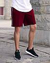 Шорты бордо мужские с полоской бренд ТУР модель СиДжей (CJ) размер XS, S, M, L, XL, фото 2