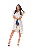 Длинное женское платье-рубашка с принтом. П097, фото 1