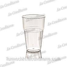 Пластиковий прозорий стакан для напоїв Frappe Polo Plast 224 (400 мл)