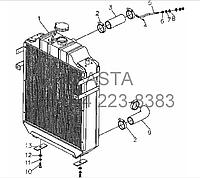 Радиатор в сборе (дополнительно) на YTO-X804