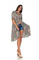 Длинное женское платье-рубашка полоска. П097, фото 1