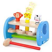 Деревянная игрушка стучалка Сафари