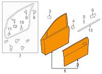 Дверь голая передняя правая Nissan Leaf AZE0 (13-17) 80152-3NF0A