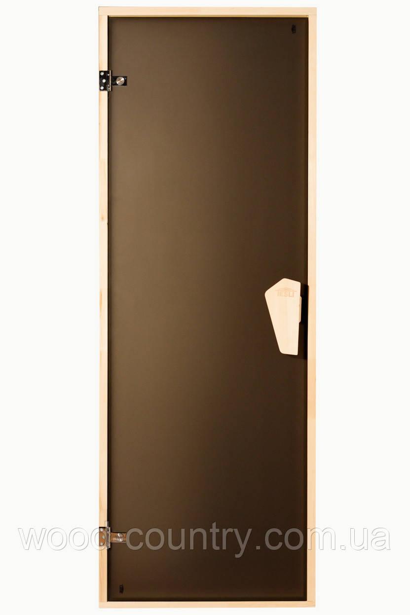 Стеклянная дверь для сауны или бани 1900 х 800 мм.