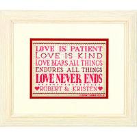 Набор для вышивания крестом Любовь - терпение/Love Is Patient DIMENSIONS 70-65144