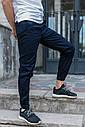 Зауженные штаны джоггеры мужские синие от бренда ТУР модель Локи (Loki) размер S, M, L, XL, фото 6