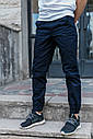 Зауженные штаны джоггеры мужские синие от бренда ТУР модель Локи (Loki) размер S, M, L, XL, фото 5