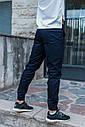 Зауженные штаны джоггеры мужские синие от бренда ТУР модель Локи (Loki) размер S, M, L, XL, фото 7