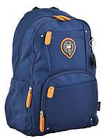 Рюкзак школьный молодежный OX 347  синий ТМ 1 Вересня, фото 1